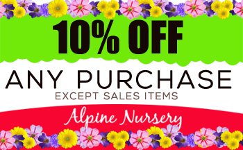 Coupon Alpine Nursery Deal